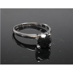 #14 14K GOLD BLACK DIAMOND 1.60ct RING