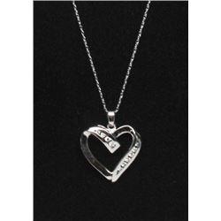 #19 14K GOLD DIAMOND 0.30ct HEART SHAPE PENDANT