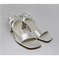 SATIN PARTY HIGH HEEL DRESS SHOES SIZE 8 1/2 B