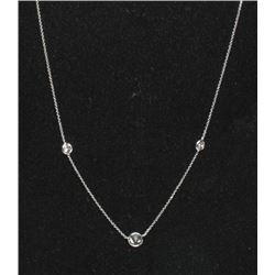 #23 14K GOLD DIAMOND 0.90ct NECKLACE