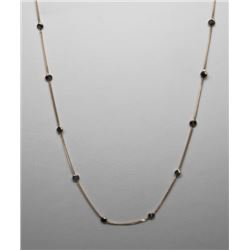#28 10K GOLD BLACK DIAMOND 2.0ct NECKLACE