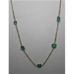 #34 10K GOLD EMERALD 5.60ct NECKLACE
