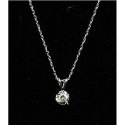 #60 14K GOLD DIAMOND 0.15ct PENDANT NECKLACE