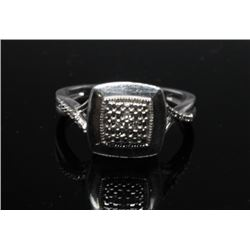 #62 STERLING SILVER DIAMOND 0.20ct RING