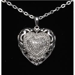 #69 STERLING SILVER DIAMOND 0.25ct HEART-SHAPED