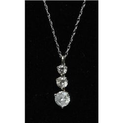 #78 14K GOLD DIAMOND 1.0ct JOURNEY STYLE PENDANT