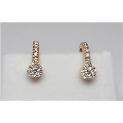 #80 18K GOLD DAIMOND 0.5ct EARRINGS