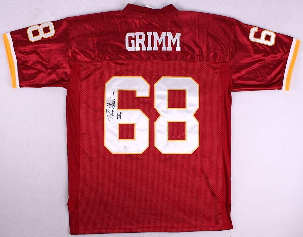 innovative design 64bad 57d04 Russ Grimm Signed Redskins Throwback Jersey Inscribed ...