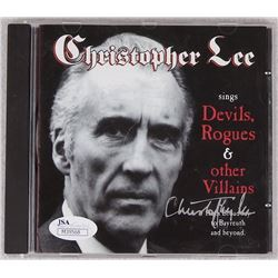 Christopher Lee Signed  Devils, Rogues & Other Villains  CD Insert (JSA COA)