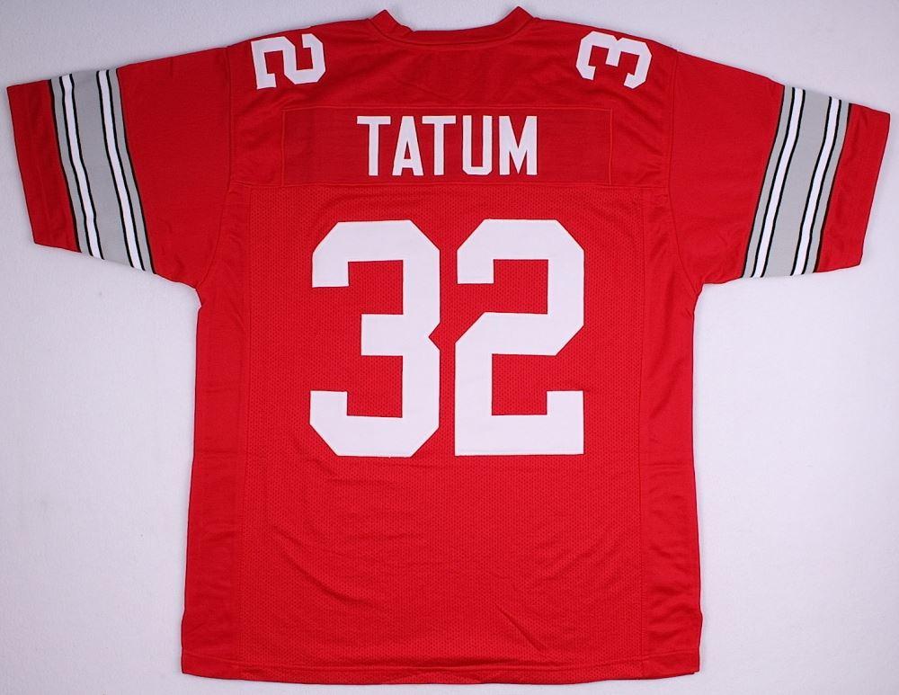 new concept dbd8d d76bb Jack Tatum Ohio State On-Field Style Custom Stitched Jersey ...