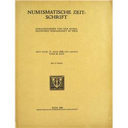 1928 Volume of the Numismatische Zeitschrift