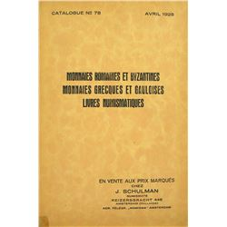 Schulman Catalogue of Ancient Coins & Numismatic Books