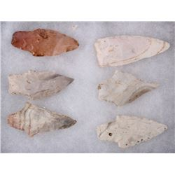 Northern Crow Spear Head Artifacts (6)