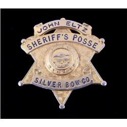 Sheriff's Posse Silver Bow Butte Montana Badge