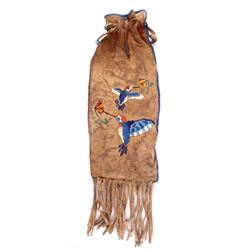 Sioux Quill & Beaded Hummingbird Pipe Bag