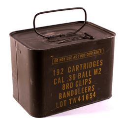 Unopened M1 Garand Can 30 Cal.(.30-06 192 Rds.)