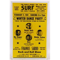 Buddy Holly Ritchie Valens Feb. 2 1959 Poster