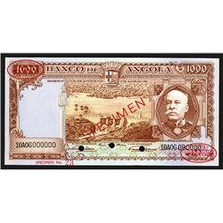 Banco de Angola. 1000 Escudos. 1956. Specimen.