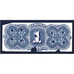 Banco Argentino Back Proof 1873