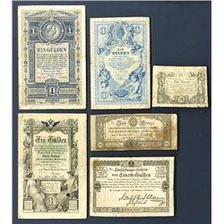 Austria ca.1860's Banknote Assortment