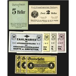 Austria Notgeld Assortment.