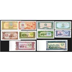 Cambodia and Lao Paper Money Assortment. 1979.