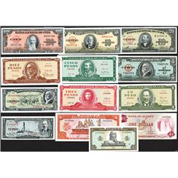 Banco Nacional de Cuba (10); Banque de la Republique d'Haiti (2); Bank of Guyana.