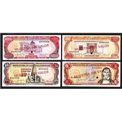 Banco Central de la Republica Dominicana. 1987. Group of 4 specimens.