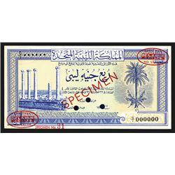 United Kingdom of Libya, 1951 Specimen Banknote.