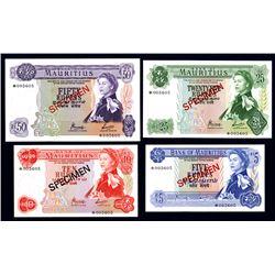 Bank of Mauritius 1978 Specimen Set
