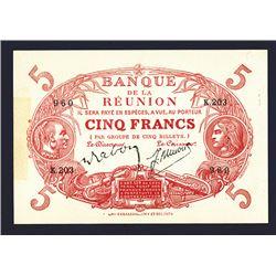 Banque de la Reunion, 1901 Issue