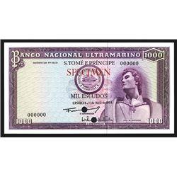 Banco Nacional Ultramarino - S.Tome E Principe, 1964 Color Trial.