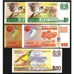 Board of Commissioners of Currency, 1976-80 ND Issue Banknote Assortment.