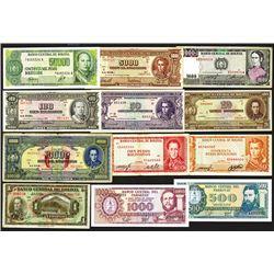 Bolivia (10), Ecuador (2), Paraguay (2), Peru (2), Uruguay (7).
