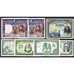 Banco de Espana. Nice group of 1000 Pesetas notes.