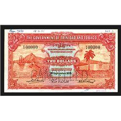 Government of Trinidad & Tabago, 1935 Specimen Banknote.