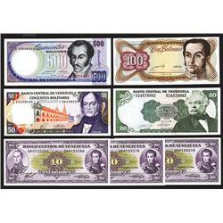 Banco Central de Venezuela, Group of 7 Uncirculated notes.
