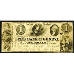 Bank of Geneva,Ê$1, July 1, 1843.