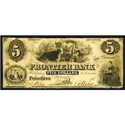 Frontier Bank, $5, ca.1850's.