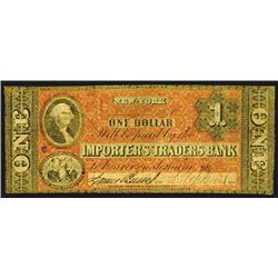 Importers and Traders Bank, $1, ca.1850's.