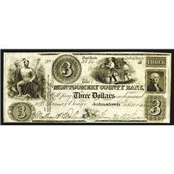 Montgomery County Bank, $3, Feb. 22, 1845.