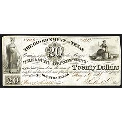 Government of Texas, 1838 Third Issue