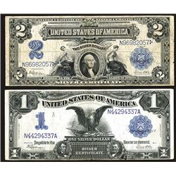 Pair of U.S. Large Size 1899 Silver Certificates/