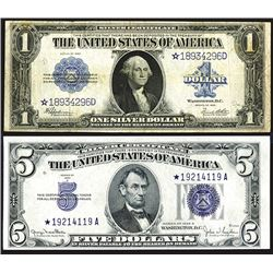 Star Note Silver Certificate Pairing.