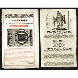 State Lottery Broadside. 1817.