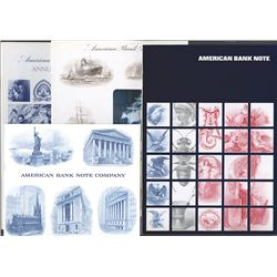 American Bank Note Co. Annual Reports (14) and publicity books (4).