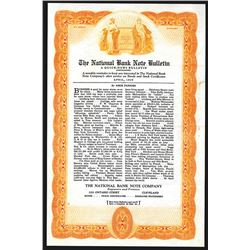Security Printer Advertising Sheet - National Bank Note Bulletin, 1929