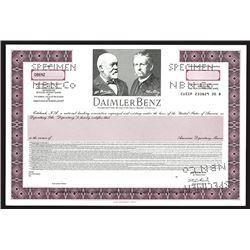 Daimler-Benz 1993 Specimen ADR Stock Certificate.