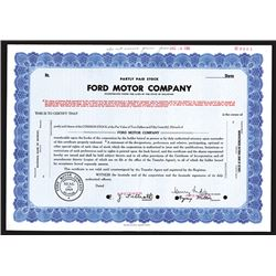 Ford Motor Co., Partly Paid Stock, 1960 Specimen Stock Certificate.