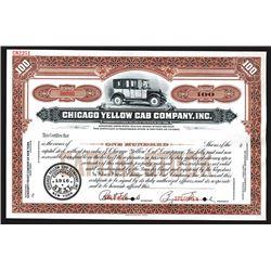 Chicago Yellow Cab Company, Inc., 1916 Specimen Stock Certificate.